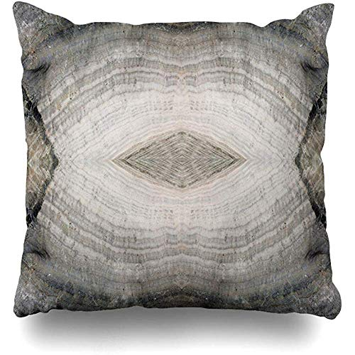 Throw Pillow Cover Cushion Case Square 18x18 Inch Compaction Gray Stone Onyx Precious Pink Health Semi Abstract Agate Alternative Banded Environmental Home - Onyx Semi Precious