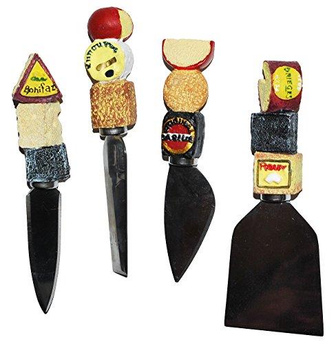 3-D Käsemesser - Edelstahl mit Käse Griff aus Kunstharz - Buffet - kleine Messer für Käse - Parmesanmesser - Design Italien - Käseschneider