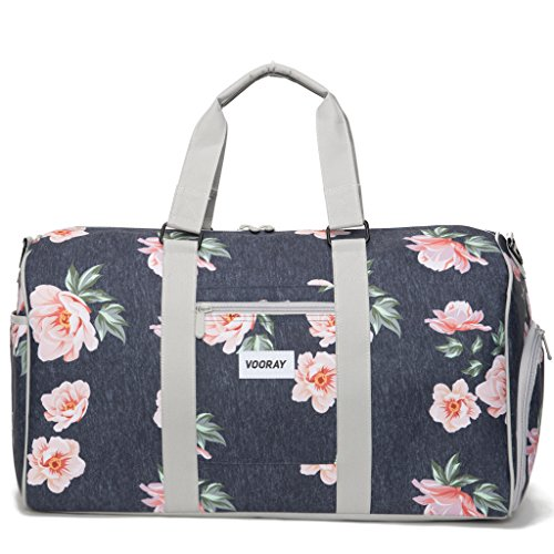 vooray-trepic-21-weekender-duffel-bag-with-shoe-pocket-rose-floral-navy