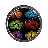 CafePress - Yoga And Meditation Symbols - Unique Decorative 10'' Wall Clock