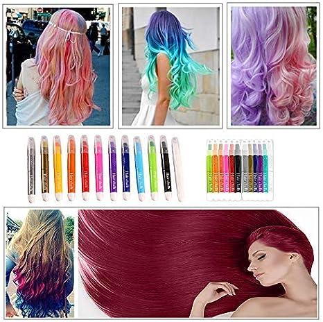 Plumas de tiza coloridas para el cabello, tinte de cabello ...