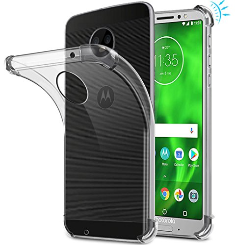 Moto G6 Case, Moto G (6th Generation) Case, Suensan TPU Shock Absorption Technology Raised Bezels Protective Case Cover for Motorola Moto G6 5.7 Inch (TPU Clear) ()