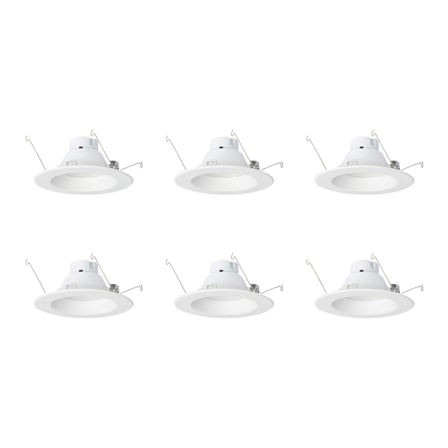 AmazonCommercial 120 Watt Equivalent, 5/6-Inch Recessed Downlight, Dimmable, CEC Compliant, Energy Star, Round LED Light Bulb | Warm White, 6-Pack by AmazonCommercial