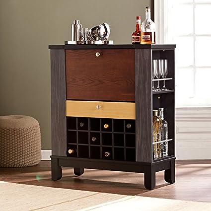 Amazon.com: Harper Blvd Avalon Wine/ Bar Cabinet, one (1) drawer ...