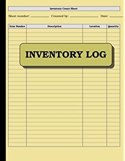 Inventory Log: 100 Pages: Size U003d 8.5 X 11 Inches (double Sided  Inventory Log Sheet