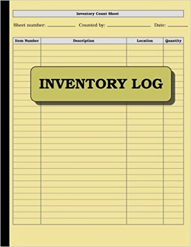 amazon com inventory log 100 pages size 8 5 x 11 inches double