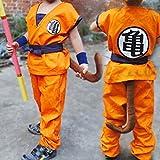 HOLRAN Dragon Ball Z Son GOKU cosplay Kids Adult uniform Medium