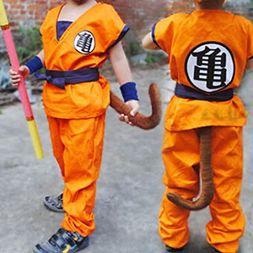 HOLRAN Dragon Ball Z Son GOKU cosplay Kids Adult uniform Medium (Goku Costume Adult)