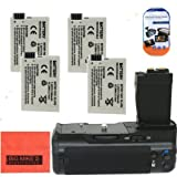 Battery Grip Kit for Canon Rebel T2i T3i T4i T5i Digital SLR Camera Includes Qty 4 Replacement LP-E8 Batteries + Vertical Battery Grip + More!!