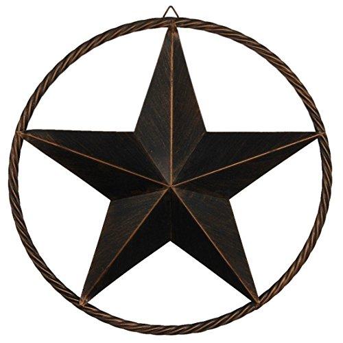 EBEI Metal Barn Star Circle Rustic Style Decorative 24
