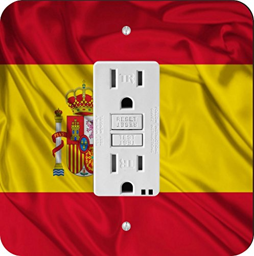 Rikki Knight 1686 Spain Flag Design Light Switch Plate by Rikki Knight