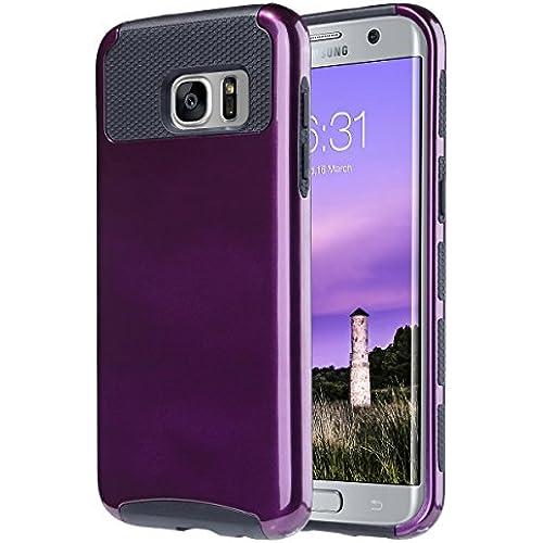 S7 Edge Case,Galaxy S7 Edge Cases,ULAK Slim Case Hybrid Dual Layer Cover 2 Piece Hard PC Shell Case Soft TPU Bumper for Samsung Galaxy S7 edge Sales