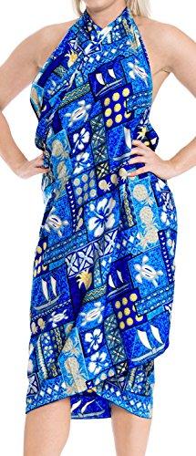 LA Blu costume bikini LEELA sarong e430 insabbiamento involucro incorporati resort da da bagno nodo legami bagno beachwear rrZpnAq