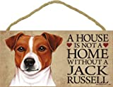 (SJT63943) A house is not a home without a Jack Russell wood sign plaque 5