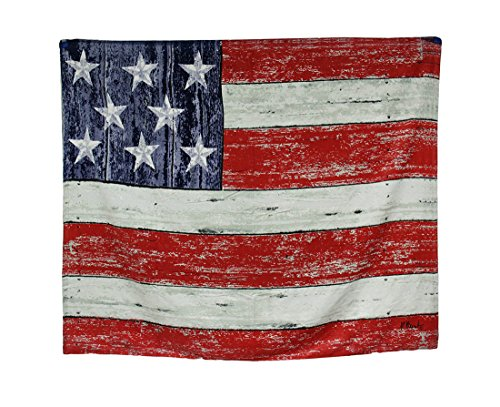 JGR Copa Oversized Rustic Style Patriotic American Flag 54x68 Cotton Velour Beach Towel Blanket ()