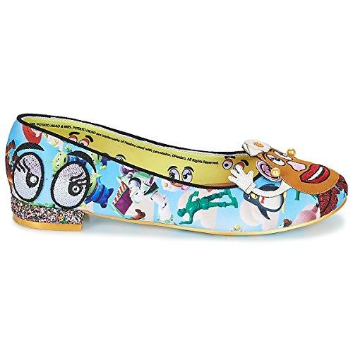 Keep Blue para Choice Cordones Multicolor de Zapatos Irregular Mujer Tela de waq5USn