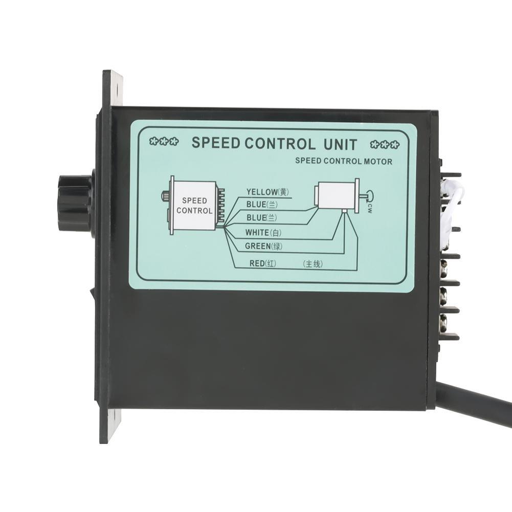 Hilitand Controlador de Velocidad del Motor, 400 W AC 220 V Interruptor de Control de Velocidad eléctrico regulador de Velocidad para Motor Permanente de ...