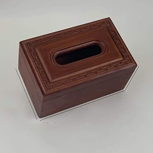 jinfudi Caja De Pañuelos Caja De Dibujo De Madera Caja De Pañuelos ...