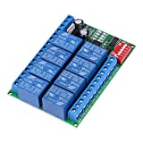 DC 12V 8 Channel RS485 Relay Command Programmable Control Module Board