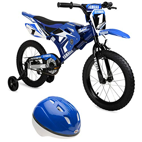 """Used, 16"""" Moto Yamaha Bike for Boys with Bell Sports Bicycle for sale  Delivered anywhere in USA"""