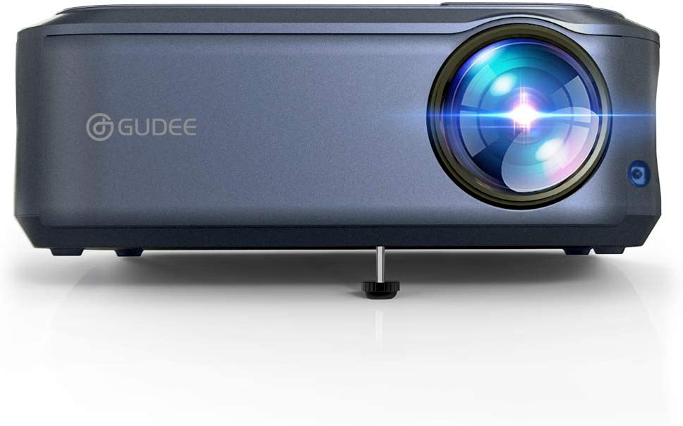 Projector, GuDee 1080P Video Projector for Home Theater, Full HD Outdoor Movie Projector, Office Projector for Business PowerPoint Presentation, Compatible with VGA, USB,Xbox, AV TV Stick, PS4