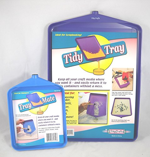 (Tidy Crafts Tidy Tray Combo, 6 by 8-Inch and 10 by 14-Inch, 2-Pack)