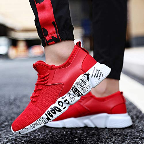 Outdoor Confortable Sport Alikeey De Lacets Running Rouge Mesh Chaussures FwYgqd