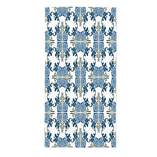 Traditional House Decor Fashionable Tablecloth,Roman Tile Mosaic Design with Famous Artful Eastern Inspired Image for Secretaire Square Table Office Table,24''W X 48''L - Mosaics Bath Roman