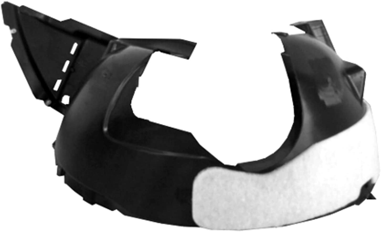 2013-2016 Buick Encore Driver Side Front Fender Liner; Injection Molded With Insulation Foam; Made Of Pp Plastic Partslink GM1248266