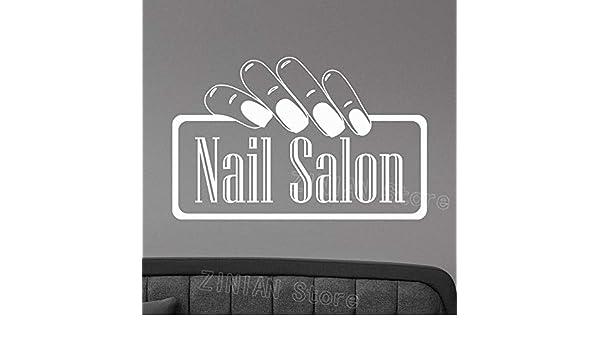 Nail Salon Logo Tatuajes de Pared de Vinilo Etiqueta de la Ventana ...