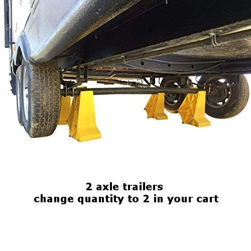 TrailerLegs one axle set, SEMA award winning, trailer stabilizer and  storage jacks, boat trailer, travel trailer, fifth wheel trailer, horse  trailer