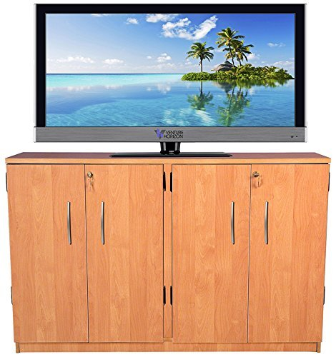 Venture Horizon Double Multimedia TV Cabinet- Oak