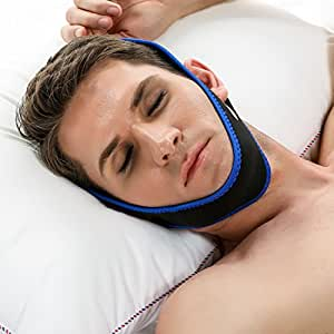 ACEVIVI Adjustable Anti-Snore Stop Snoring Chin Strap Device Free Breathing Jaw Strap,Triangle shape (Straight)