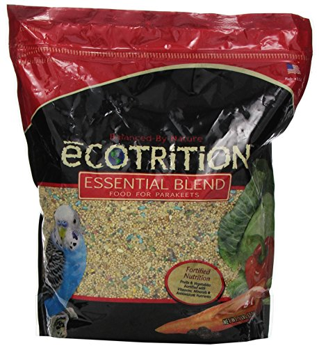 eCotrition A2105 Essential Blend Diet Bird Food for Parakeets, 5-Pound Bag by eCOTRITION
