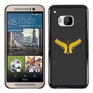 TaiTech / Prima Delgada SLIM Casa Carcasa Funda Case Bandera Cover Armor Shell PC / Aliminium - Hunter - HTC One M9