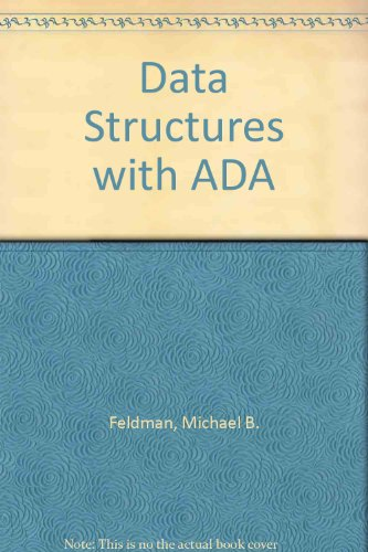Data Structures With Ada by Reston Pub Co