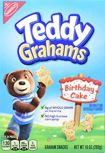 Teddy Grahams Birthday Cake Snacks, 10 oz box