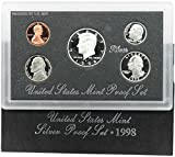1998 S US Proof Set 5-Coin Silver Proof Set Mint State Proof Set Proof US Mint