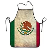 Yongchuang Feng Cool Mexican Flag Unisex Kitchen BBQ Cook Chef Apron Cooking Professional Adults Bibs Gifts Barbecue Aprons