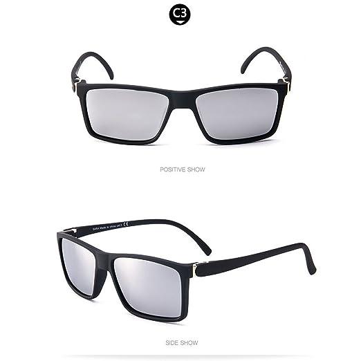5086f49b9a WESHION Polarized Sunglasses Men Women Unisex Classic Cycling Eyewear  Yellow (Silver)  Amazon.ca  Clothing   Accessories