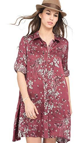 (Lauren Vidal Flared Blouse Dress Summer Collection Women )