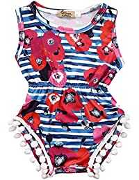 Baby Girls Cute Adorable Floral Romper Sleeveless Romper...