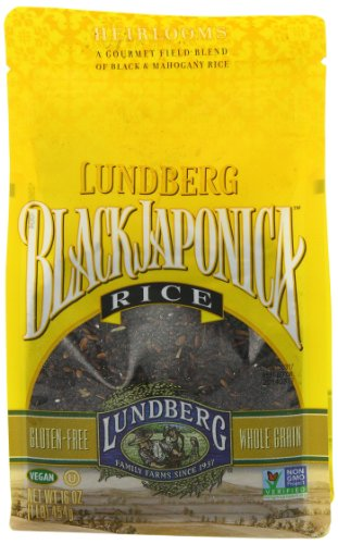 Lundberg Family Farms Eco-Farmed Gourmet Black Japonica Field Blend Rice, 16-Ounce (Pack of 6) - Eco Blend