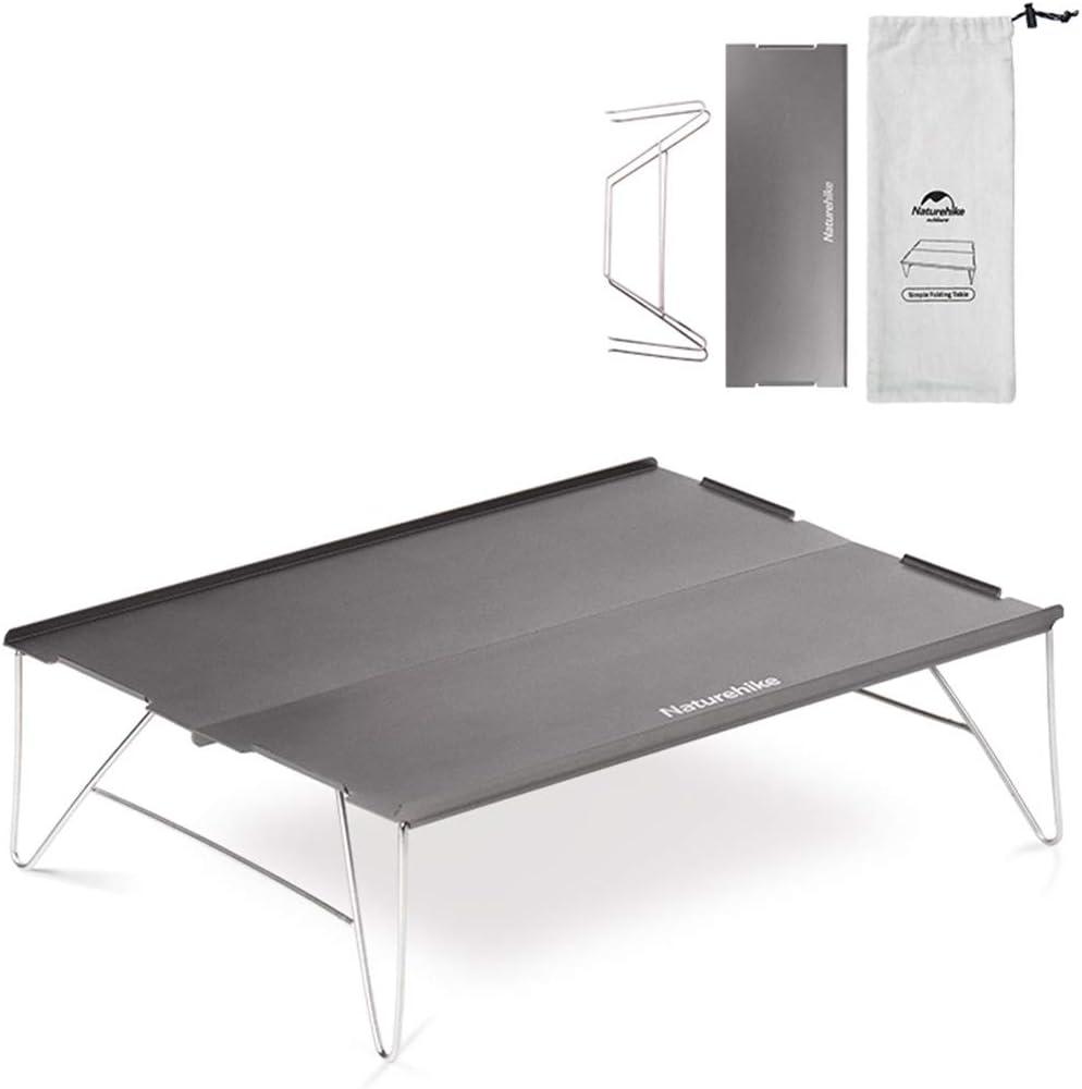 Tentock Mesa Plegable Ultraligera de Aluminio para Exteriores con Bolsa de Transporte