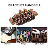 African Drum Handbell, Handmade Nuts Shell Bracelet Handbell Accompaniment Djembe African Drum Instrumen