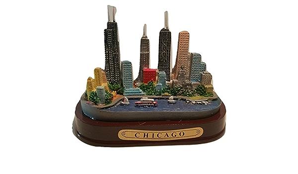 933 Chicago Illinois Laser Magnet Hancock Tower Illinois Souvenir