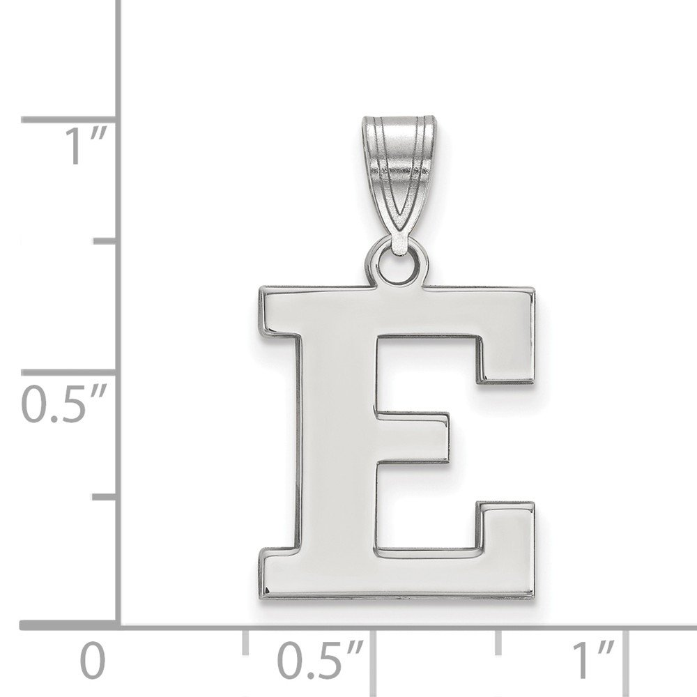 13mm x 24mm Jewel Tie 925 Sterling Silver Eastern Michigan University Medium Pendant
