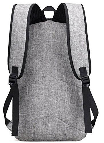 Mode GMBBB181092 dos de Gris Daypack à AgooLar Sacs Daypacks Zippers Toile Femme randonnée CfqWPWz45n