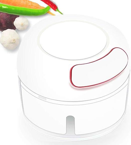 Mcottage Manual Comida Helicóptero Mini Gralic Triturador Prensa Picadora Robot Cocina para Guindilla Jengibre Vegetal Frutas: Amazon.es