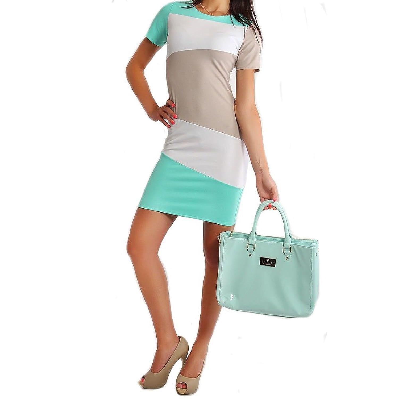 BestWahl Tunikenkleid Business Midikleid Etuikleider